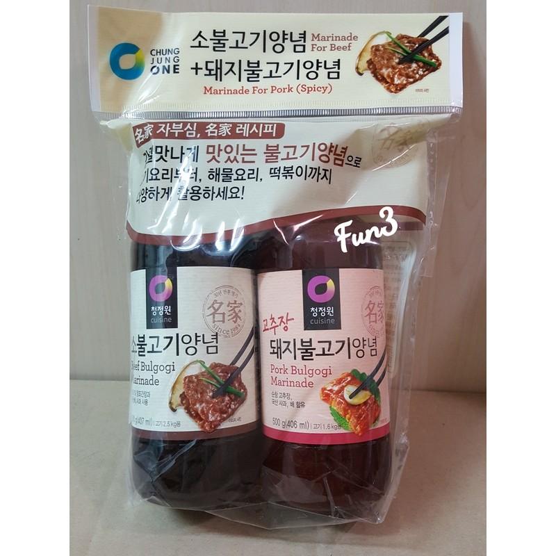 ~Fun3 ✾日貨~~韓國大象醃烤調味醬2 入組原味辣味附刷子醃烤醬烤肉醬燒肉店