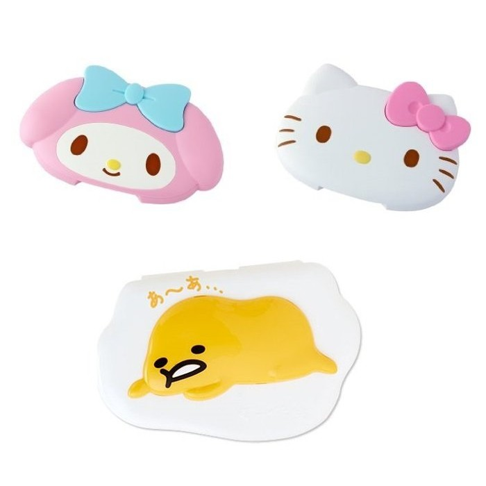 Nana Lili 雜貨 ~ kitty Melody 蛋黃哥濕紙巾蓋可重複
