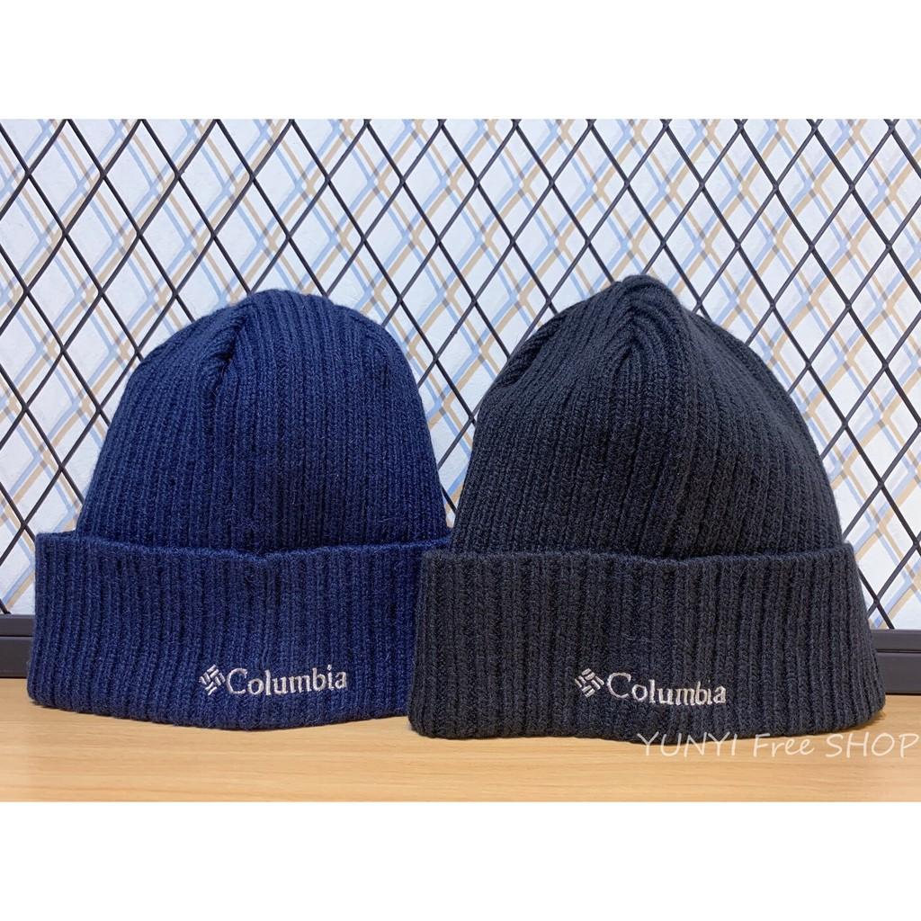 ®現貨 Columbia 哥倫比亞 毛帽 黑 深藍 刺繡字體 男 女12986