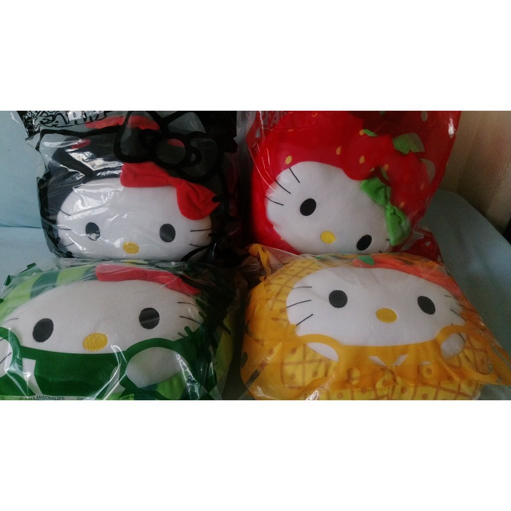 ~ ~麥當勞kitty 抱枕199 元起~賣場最 ~瓢蟲鳳梨草莓西瓜