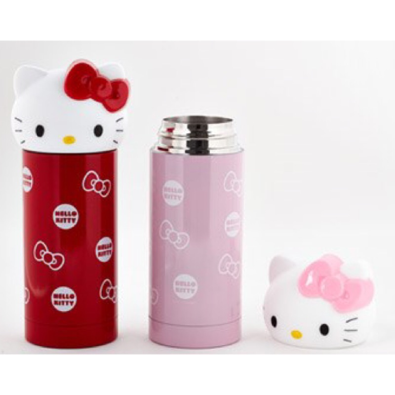 Kitty _ 保溫瓶大貓頭360ml 保溫杯紅粉