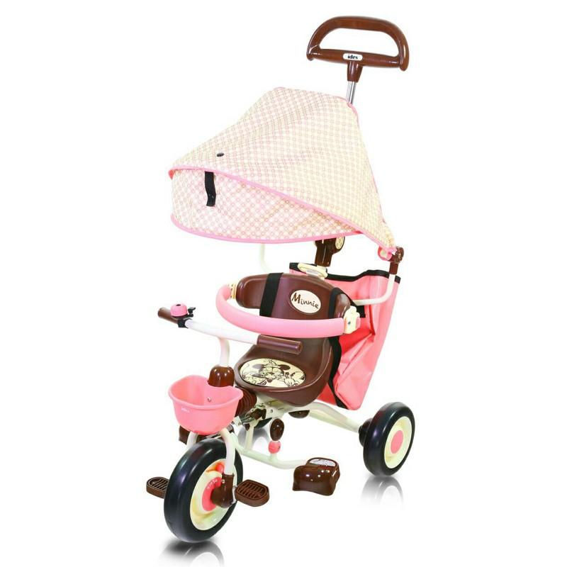 當天寄抵蝦幣 ides 米妮摺疊敞篷三輪車