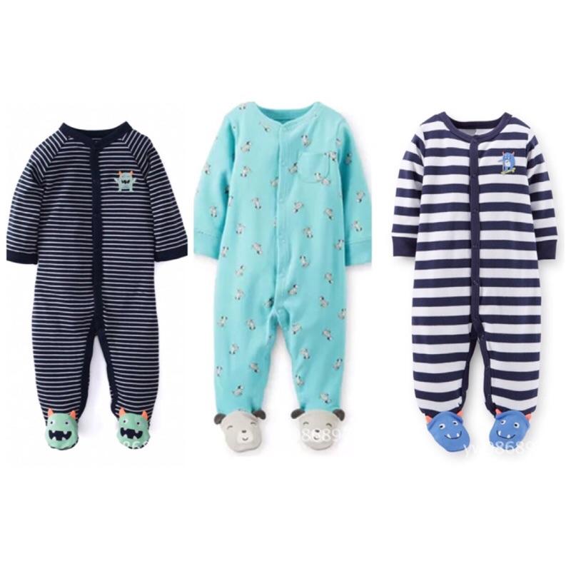 美國卡特Carter s 新品預告包腳長袖連身衣嬰兒寶寶幼兒 哈衣爬爬衣兔裝前釦連身裝