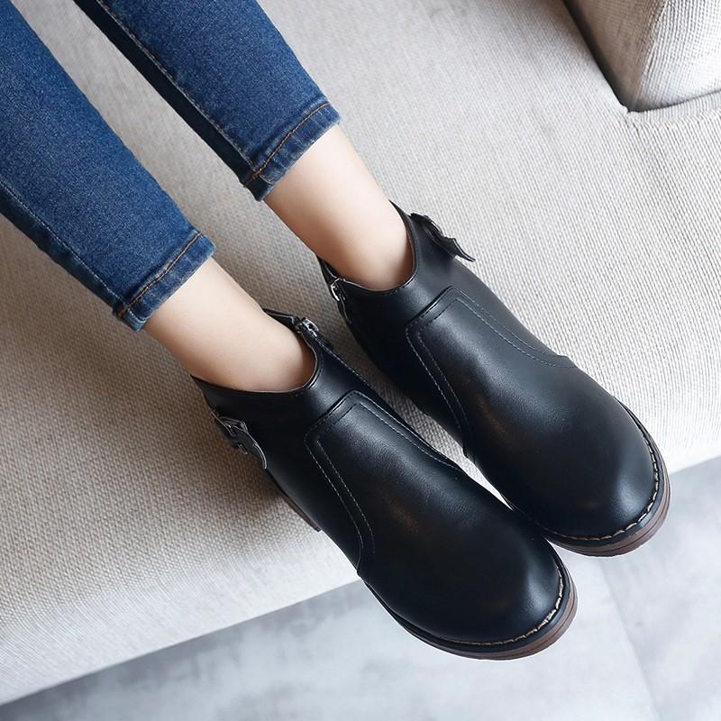 ♛♛♛♛♛♛n 秋 女鞋 2016 英倫風厚底中跟高跟女士馬丁靴子女靴短靴