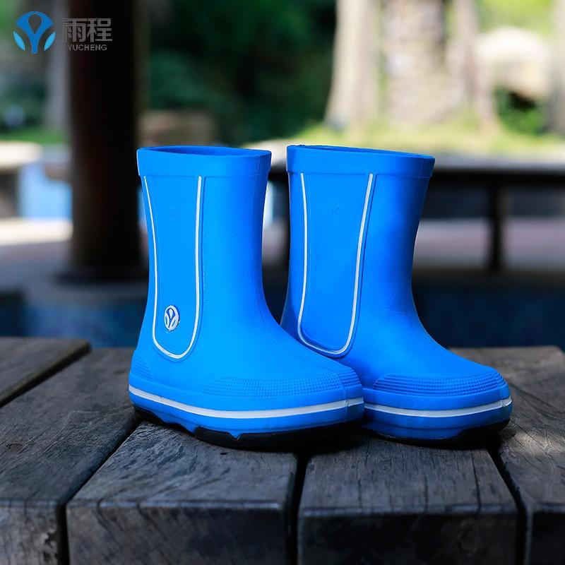 雨程高筒女童男童防滑雨鞋兒童雨靴秧鞋水靴小學生雨鞋可配雨衣