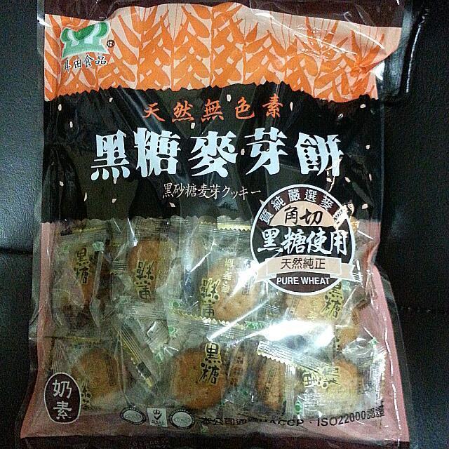黑糖麥芽餅大包裝500g ~~ 滿500 送精美小 一份,滿1000 送KT 精美小 一份