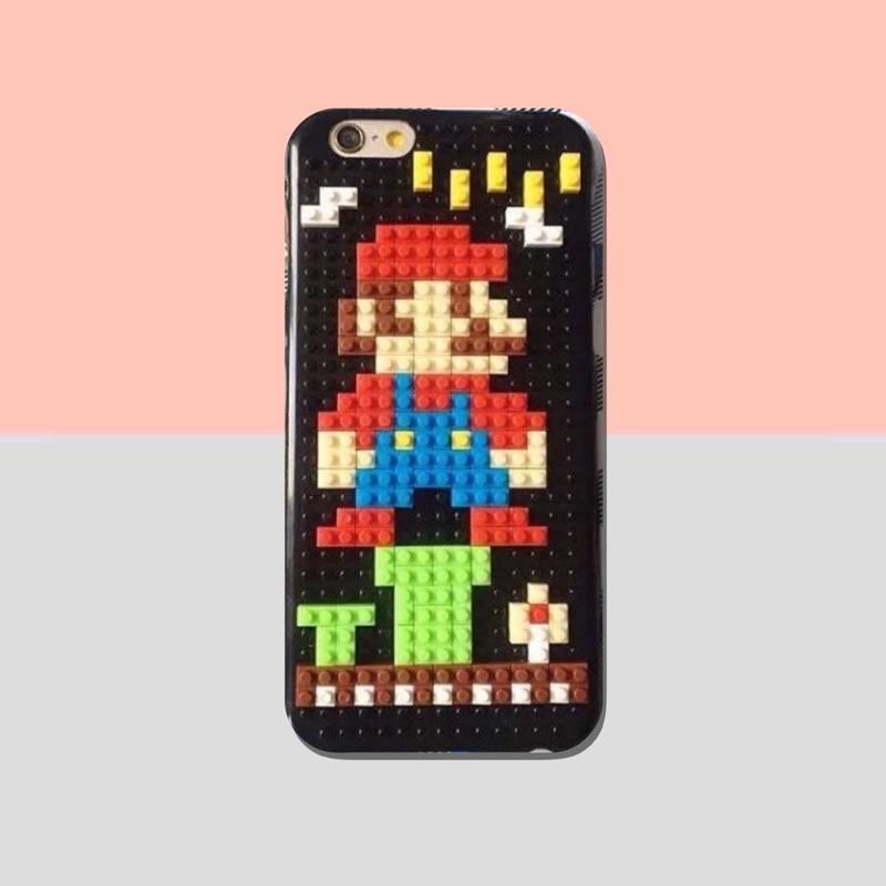 蘋果DIY 瑪莉歐超級瑪莉懷舊卡通情侶手機殼保護套iPhone6 IPhone6s IPh