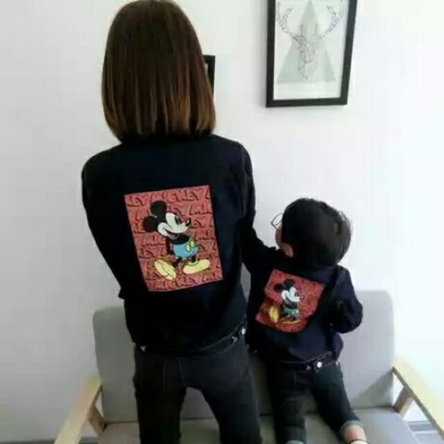 韓國自訂款 親子裝母女母子裝夾克衫親子牛仔外套