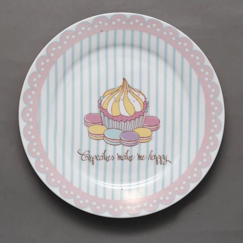蛋糕馬卡龍瓷盤點心盤蛋糕盤