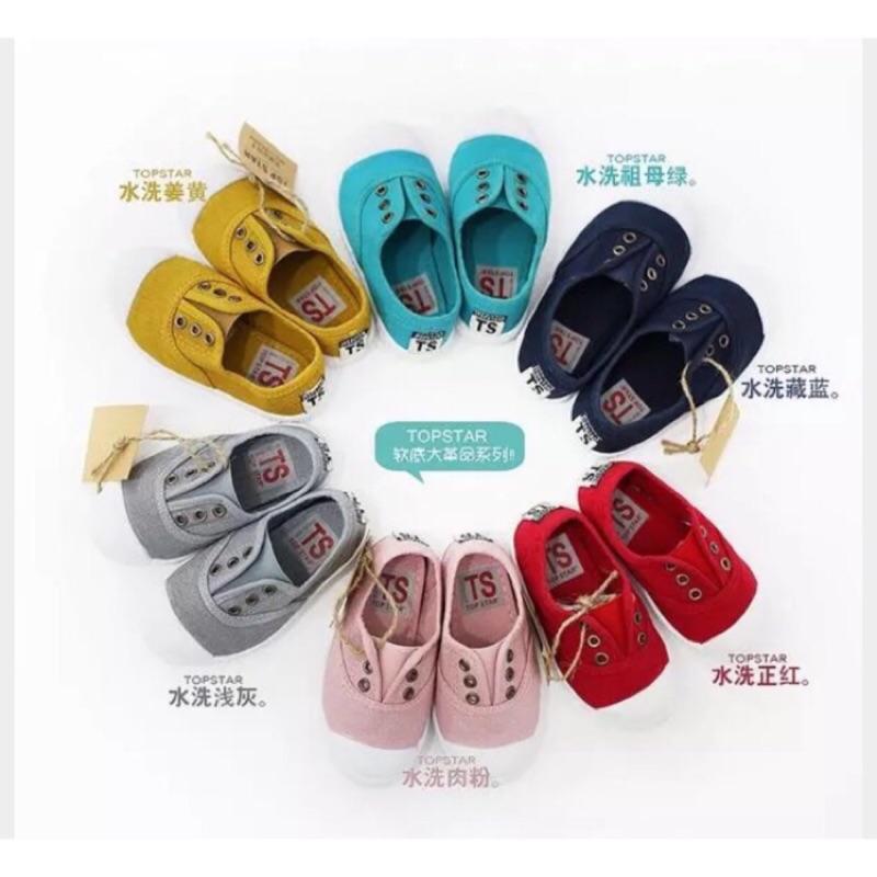 ▫️現 Kids 女童男童親子大人媽媽韓國TOPSTAR 超百搭超好穿軟底輕便軟底帆布童鞋
