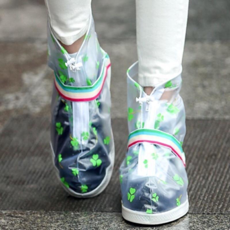 防雨鞋套~三葉草都會 中筒防水防雨鞋套~H362