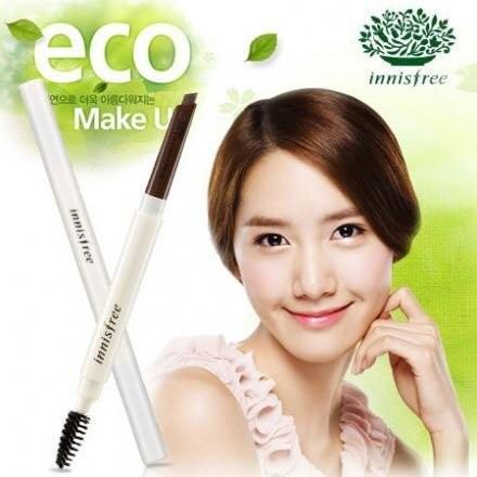 買就送韓國面膜韓國Innisfree 自然眉型雙頭旋轉眉筆0 3g 眉筆眉刷7 色 少女時