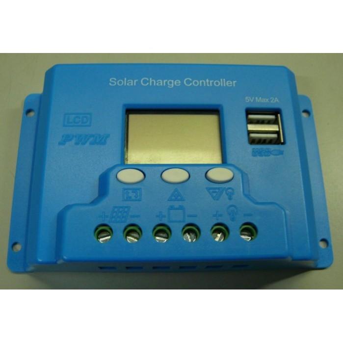 ~UCI 電子~太陽能控制器電池板用12V24V10A 液晶LCD 數顯USB5V 充放電