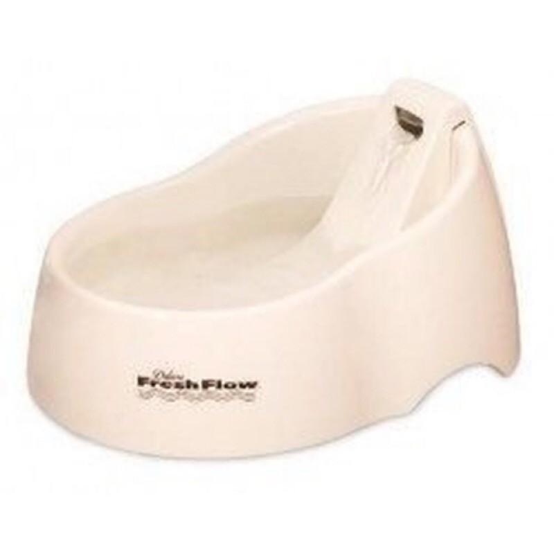 美國Petmate 寵物電動飲水機簡易型~米白色~容量約1 5 公升可加購濾芯3 入包