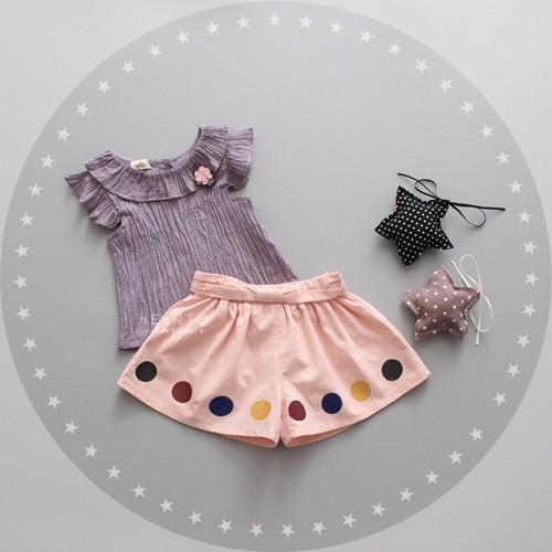 ~ ~復古棉麻 褲裙套裝灰色