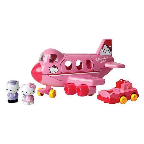 玩具Hello Kitty 凱蒂貓波音747 飛機附贈公仔