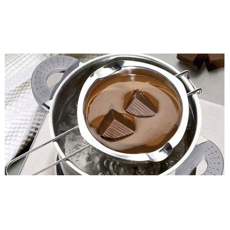 烘焙具匠不鏽鋼巧克力鍋融化鍋烘焙工具廚房家用黃油芝士隔水融化碗