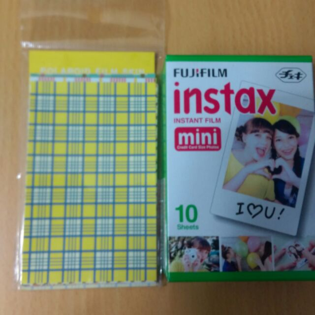 邊框貼紙格子彩色系列20 入富士拍立得空白mini 底片另售皮克斯怪獸大學玩具總動員史奴比