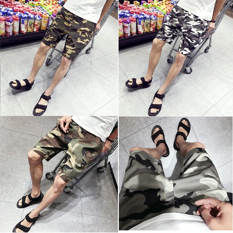 2016 四色男款迷彩休閒短褲工裝五分褲