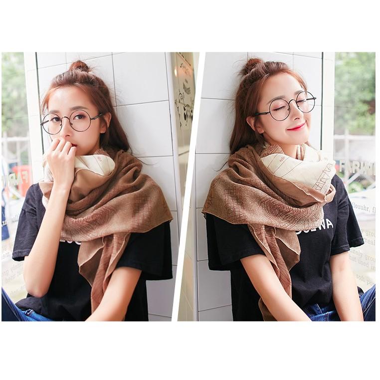 款高CP 值雙色棉麻圍巾六色 韓國棉舒適親膚百搭