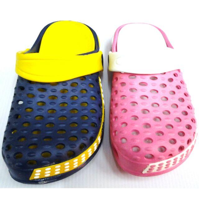 中大童園丁布希鞋止滑透氣護趾可涉水易穿脱