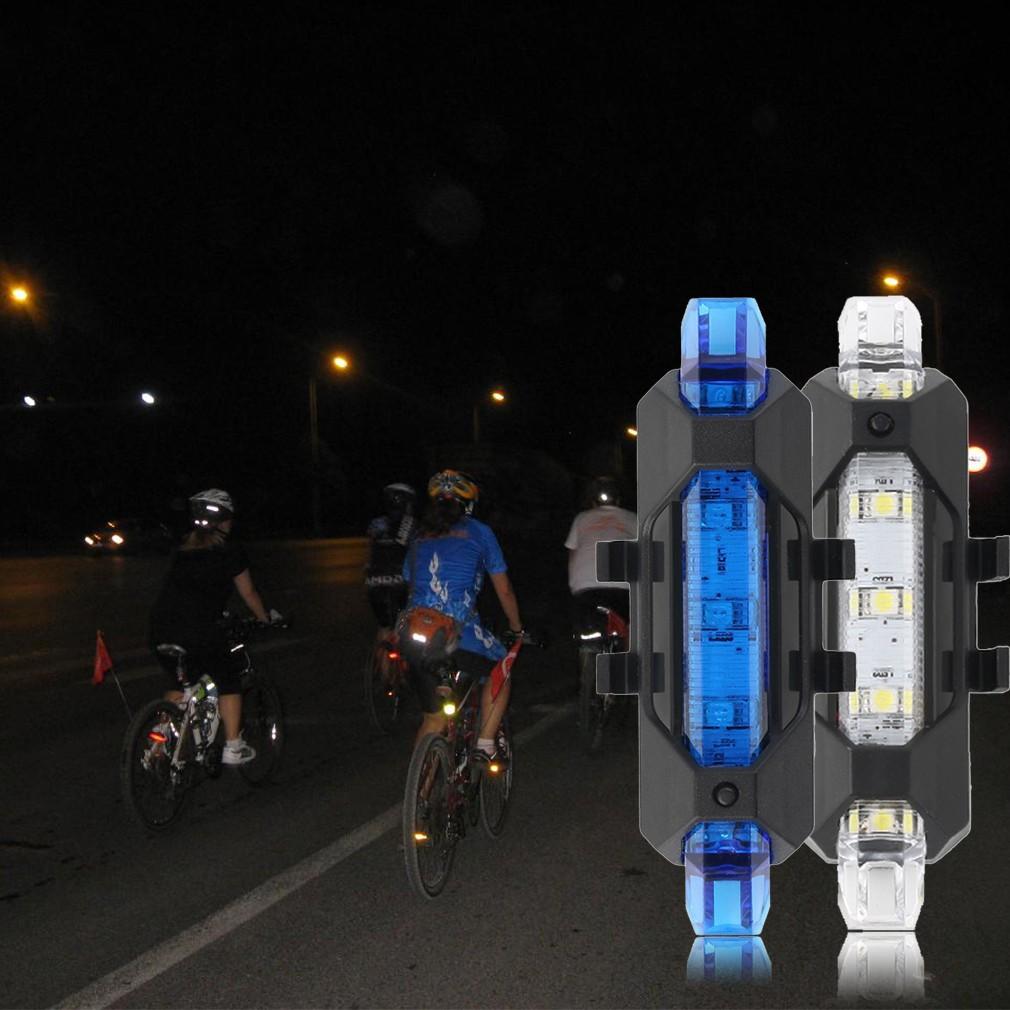 USB 充電式自行車尾燈腳踏車警告燈單車車燈