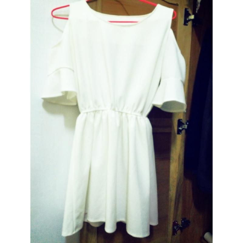 露肩連身洋裝洋裝連身裙