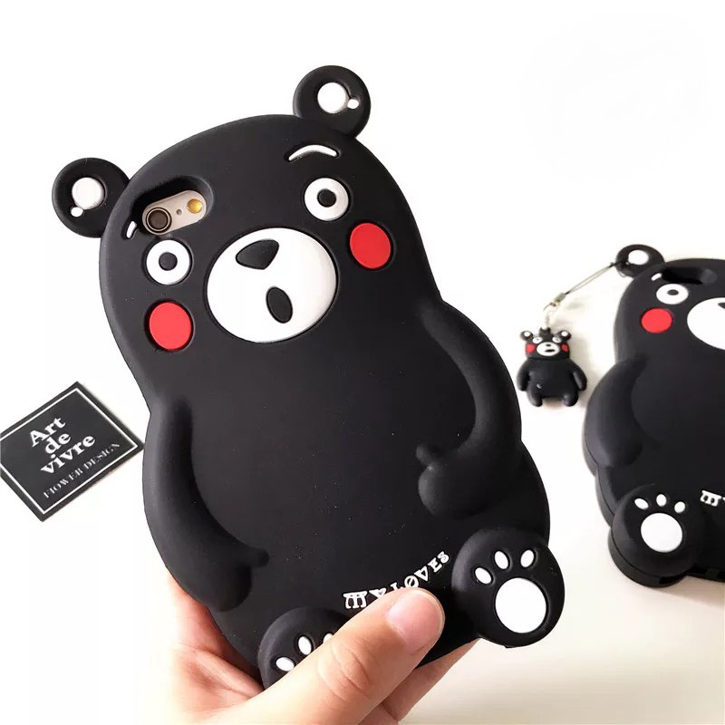 立體熊本熊手機殼iPhone7 plus iPhone6 plus 5se 矽膠套