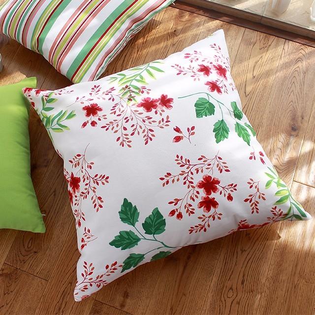 宜家純棉45 45cm 60 60cm 春舞蝶花款ikea 風抱枕套靠墊套不含枕心