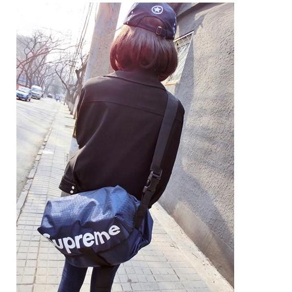 潮牌潮人 superme 郵差包後背包腰包斜背包男女潮情侶書包胸包