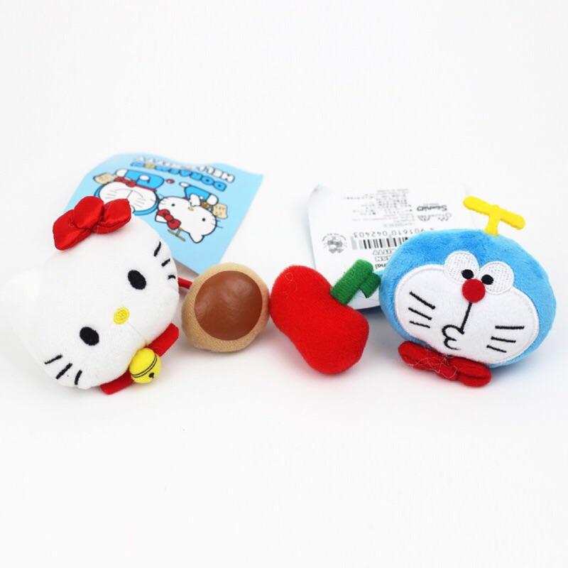 限定款!超可愛Hello Kitty x Doraemon 哆啦A 夢聯名毛絨髮圈髮繩KT