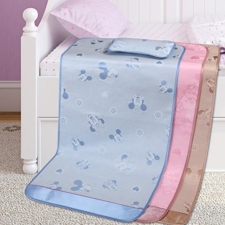 可水洗嬰兒涼席新生兒童寶寶床冰絲亞麻席幼兒園涼席涼墊套件