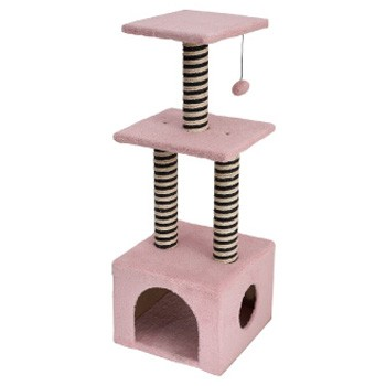 舒活貓酷比Cool Pet 雙色柱三層貓跳台