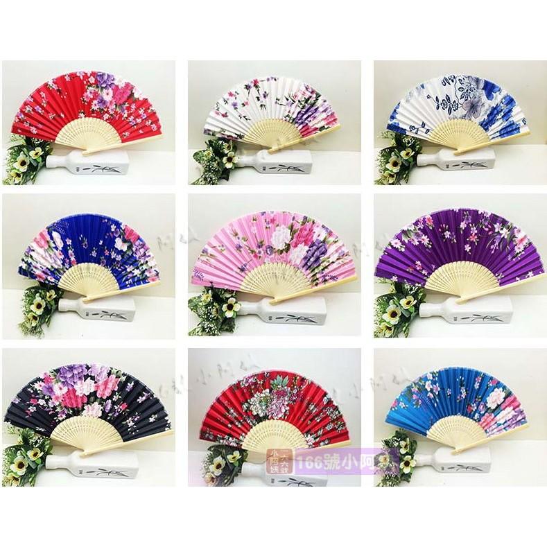 ~166 號小阿姨~Cosplay 道具扇子絹布折扇表演扇子道具扇子和風扇和服 古裝