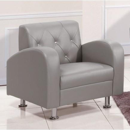 ~昱陽傢俱~載爾一人座灰色皮沙發單人椅單人沙發休閒椅二色 咖啡皮灰皮 品~桃園以北免 ~