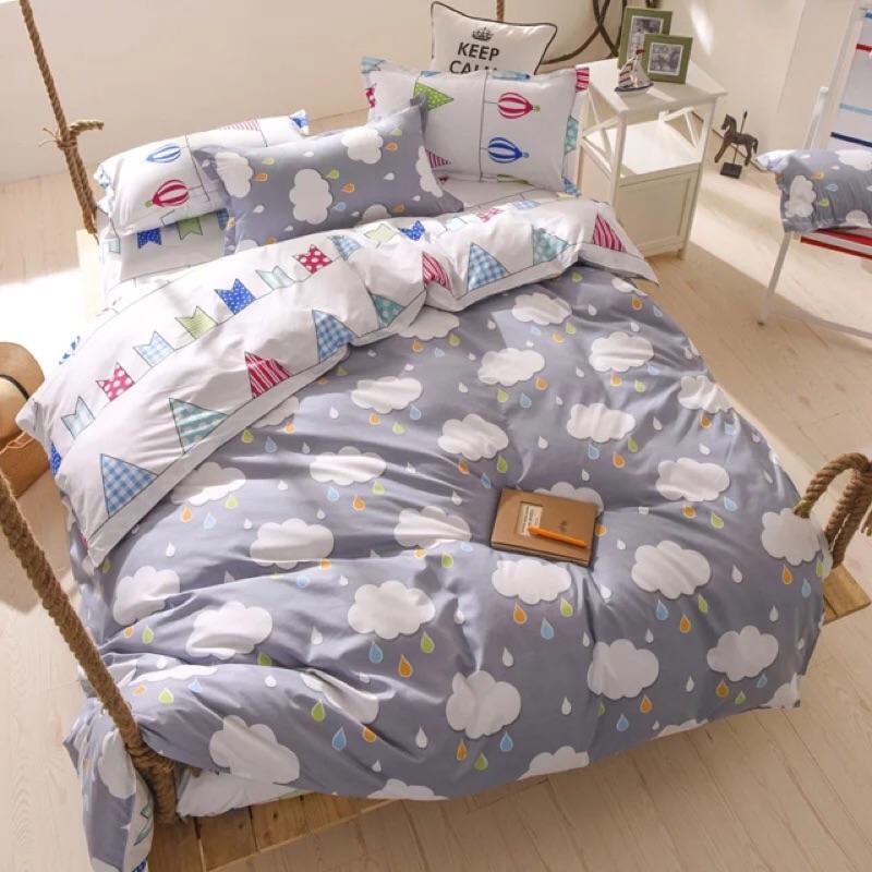 北歐雲旗四件組床包四件組床單床包被套枕套床組Zara ikea 單人床雙人床雙人加大