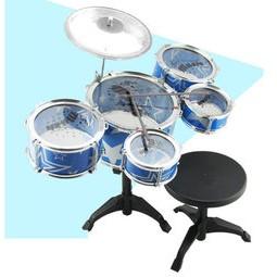 姵、蒂、屋、 5 鼓大號兒童爵士鼓爵士鼓兒童鼓玩具鼓拍拍兒童樂器兒童架子鼓教育玩具聲響玩具