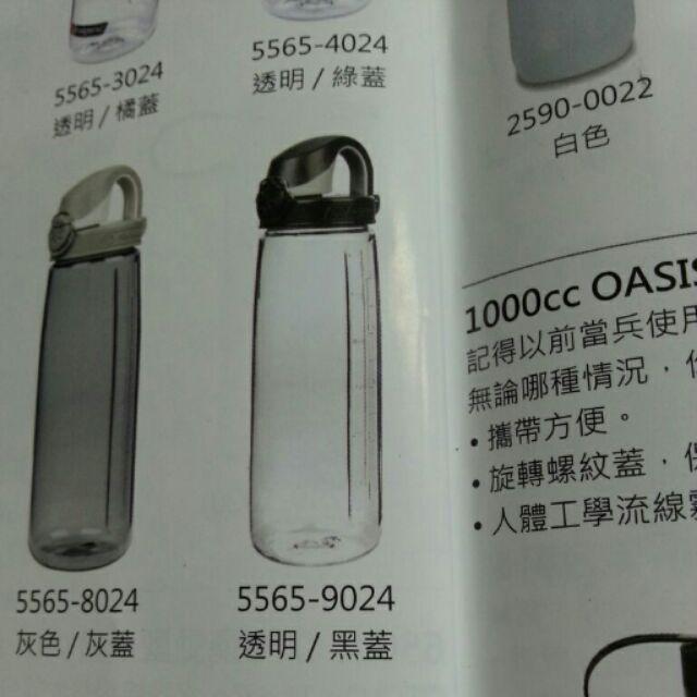 美國Nalgene 650cc OTF 型水壺透明黑蓋