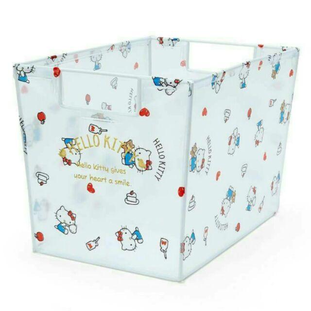 三麗鷗sanrio KITTY 美樂蒂,雙子星,大耳狗透明收納置物盒收納箱