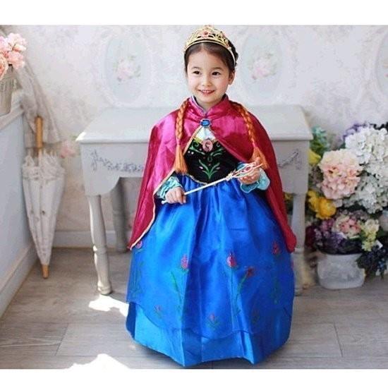 E1 2 紅蘋果的店萬聖節服裝艾莎公主冰雪奇緣連身洋裝安娜C 款爆款紅披風