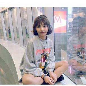 韓國學院風寬松套頭衛衣套頭 長袖上衣 潮學生外套女薄款潮k05 4118 ah 2