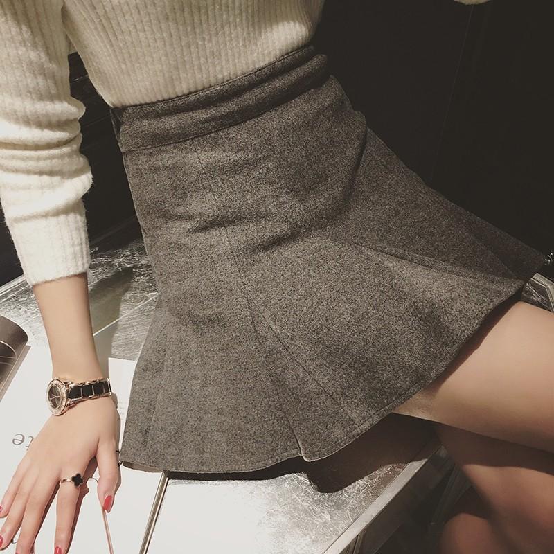 女裝修身顯瘦魚尾下擺毛呢包臀裙半身短裙寬褲褲裙長洋裝背心吊帶裙襯衫套裝長版連身裙罩衫小禮服