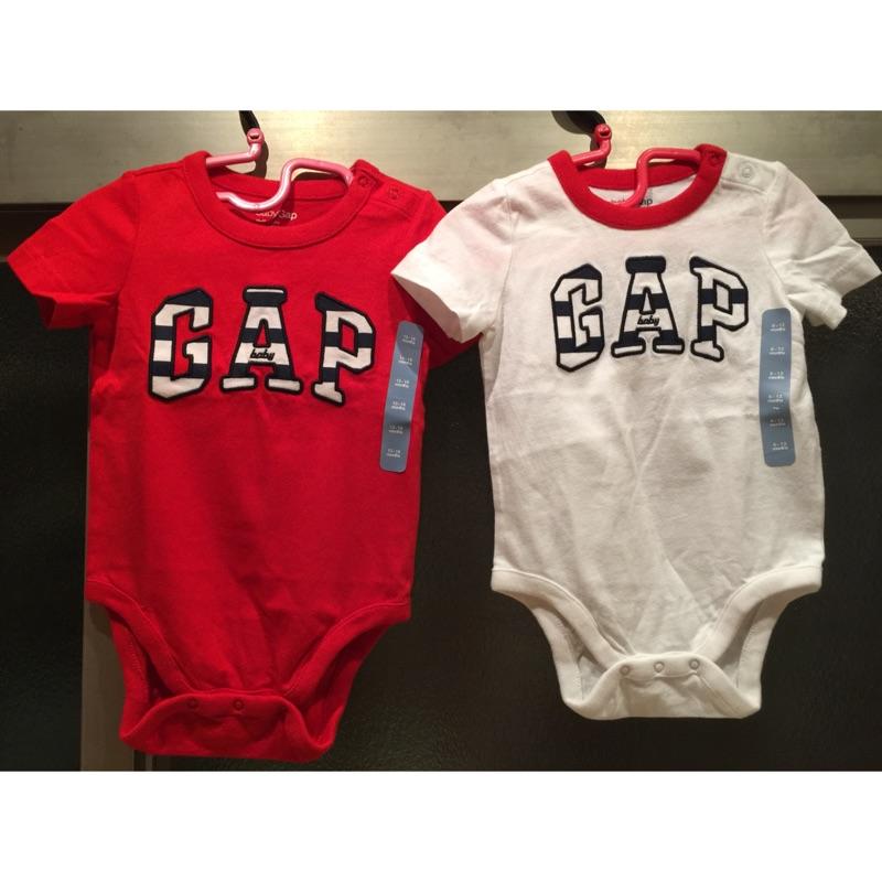 Gap logo 徽標拼布款包屁男嬰女嬰中性款