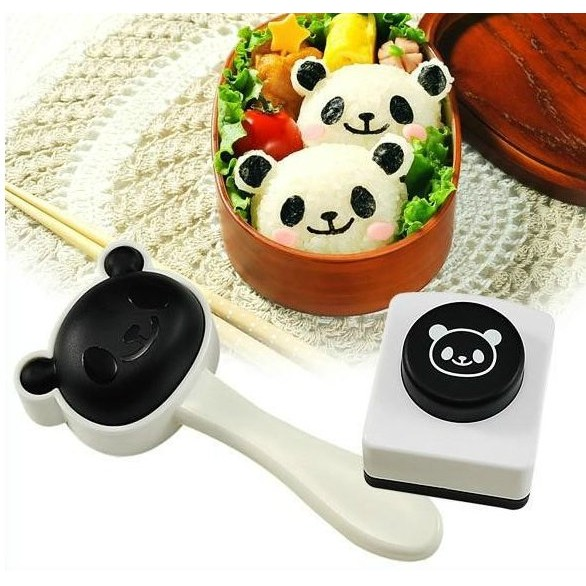 熊貓飯團模具壽司套組含飯團模型紫菜海苔壓花器模型套組廚房家居美食DIY Z029
