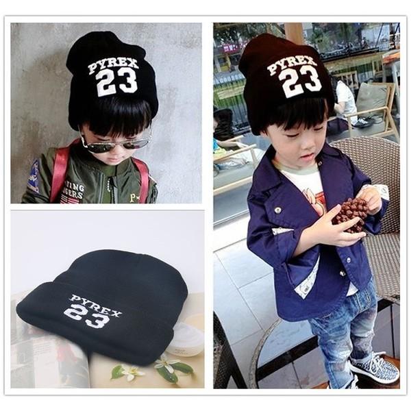 PC074 衝  兒童繡字23 翻邊針織毛帽戶外保暖帽套頭帽子毛帽毛線帽針織帽兒童帽