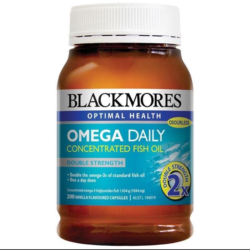 200 顆大包裝,兩罐 BLACKMORES Omega Daily 2 倍DHA 加強型