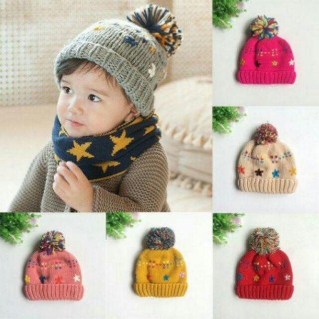 冬款彩色雪花加絨毛帽寶寶帽護耳帽保暖帽