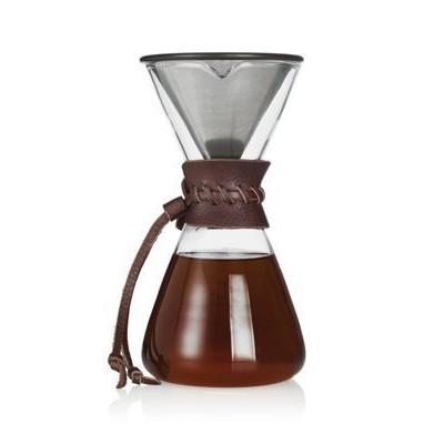 萊康 正晃行DPG 1M 金濾濾網手沖咖啡器300cc 皮質防燙墊同KINTO 金屬網
