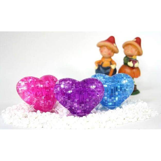 ~肥仔小窩~我的一顆心獻給一個人3D 愛心拼圖水晶立體拼圖智力拼圖透明拼圖DIY 情人節