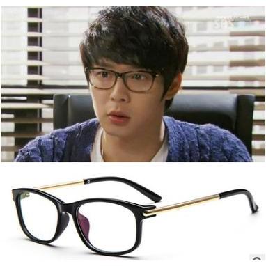 ~B S SHOP ~送升級版眼鏡盒~ 韓國型男正妹復古平光 鏡框方框 金屬框膠框F015